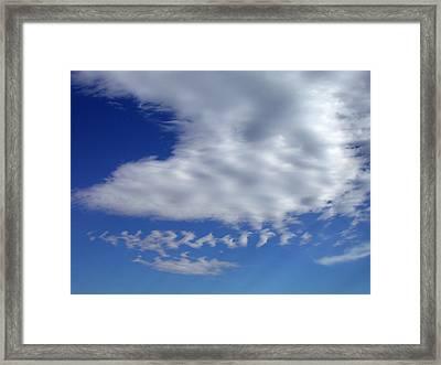 Sleepy Clouds Framed Print