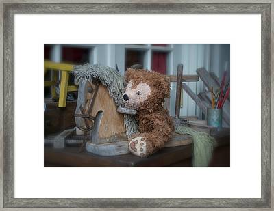 Framed Print featuring the photograph Sleepy Cowboy Bear by Thomas Woolworth