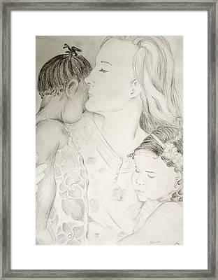 Sleepy Girls Framed Print by Tracy Nzambi