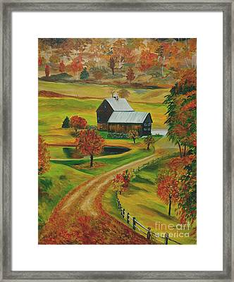 Sleepy Hollow Farm Framed Print