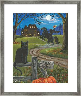 Sleepy Hollow-katrina's Cat Framed Print by Misty Walkup