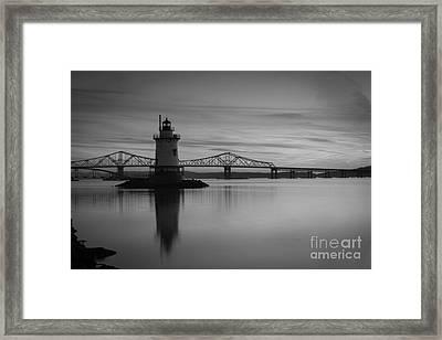 Sleepy Hollow Lighthouse Bw Framed Print