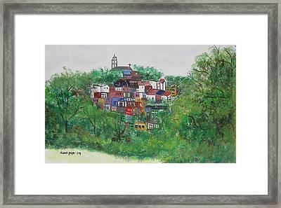 Sleepy Little Village Framed Print