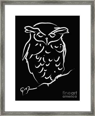Sleepy Owl Framed Print