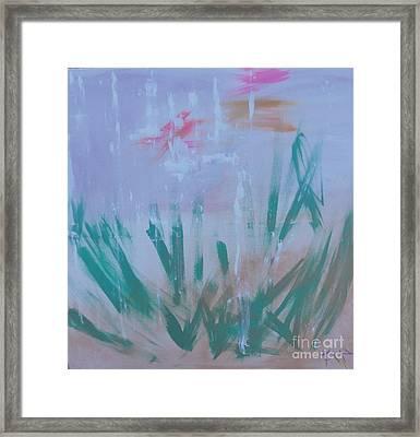 Sleepy Pond Framed Print by PainterArtist FIN