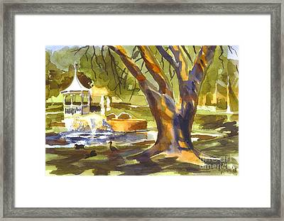 Sleepy Summers Morning Framed Print by Kip DeVore