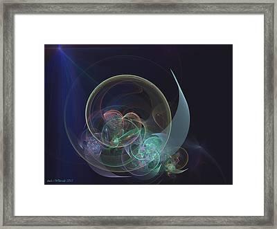 Framed Print featuring the digital art Sleepy Time Moon by Linda Whiteside