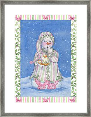 Sleepy-time Snowgal Framed Print
