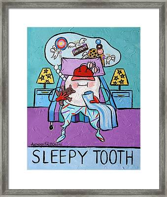Sleepy Tooth Framed Print by Anthony Falbo