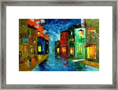 Sleepy Town Framed Print by Mariana Stauffer