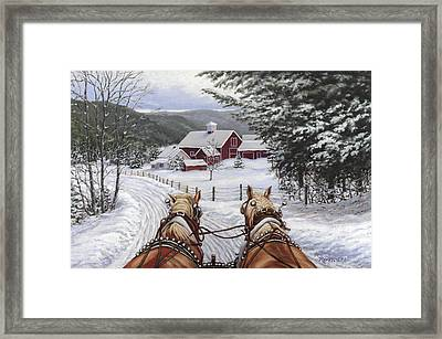 Sleigh Bells Framed Print by Richard De Wolfe