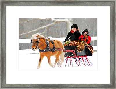 Framed Print featuring the photograph Sleigh Ride by James Kirkikis