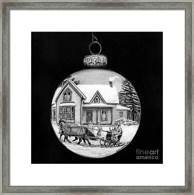Sleigh Ride Ornament Framed Print