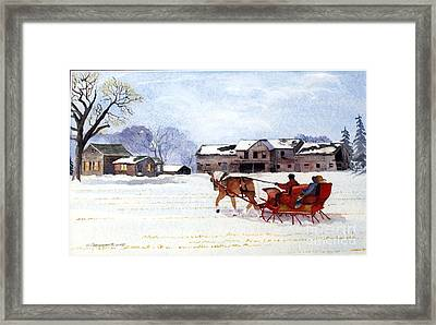 Sleigh Ride Framed Print by Susan Crossman Buscho