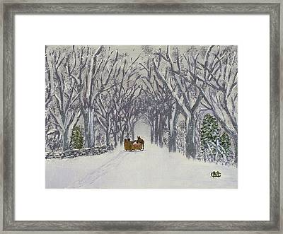 Sleigh Ride Through Time Framed Print
