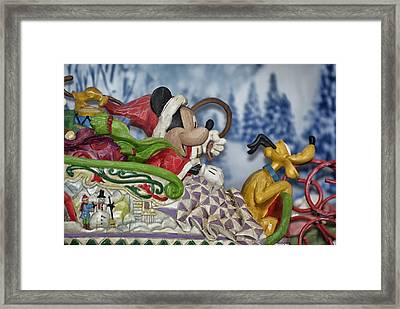 Sleigh Riding Framed Print