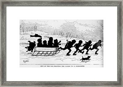 Sleighing, 1882 Framed Print by Granger