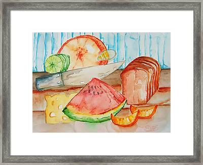 Slice It Framed Print by Elaine Duras
