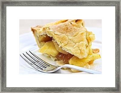 Slice Of Apple Pie Framed Print by Elena Elisseeva