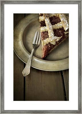 Slice Of Apple Pie Framed Print by Jaroslaw Blaminsky