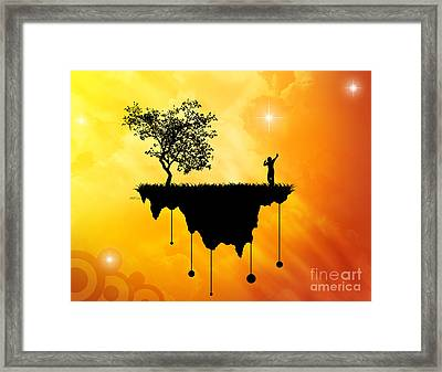 Framed Print featuring the digital art Slice Of Earth by Phil Perkins