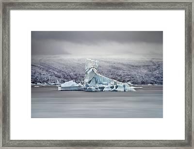 Slice Of Ice Framed Print by Evelina Kremsdorf