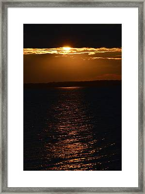 Slice Of Sun Framed Print