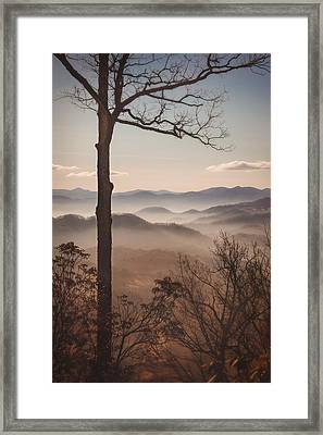 Slice Of The Smokies Framed Print by Maria Robinson