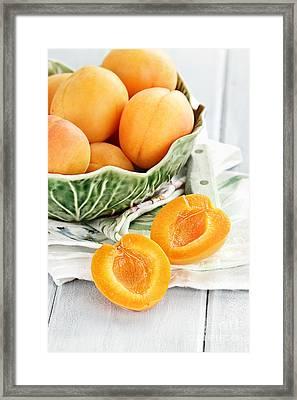 Sliced Nectarines  Framed Print