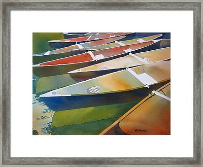 Slices Framed Print by Kris Parins