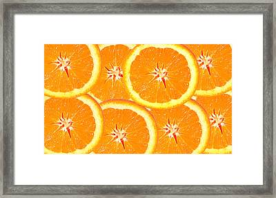 Framed Print featuring the photograph Slices Of Citrus by Cecil Fuselier