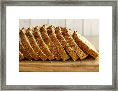 Slices Of Whole Grain Bread Framed Print by Teri Virbickis