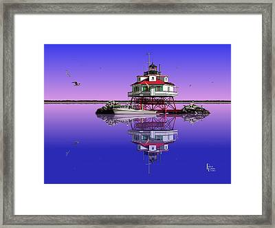 Slick Cam At Thomas Point Framed Print by Patrick Belote