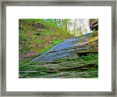 Slick Rock At Jackson Falls On Mile 405 Of Natchez Trace Parkway-tennessee  Framed Print by Ruth Hager