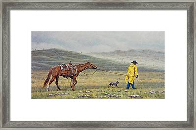 Slicker Weather Framed Print by Paul Krapf