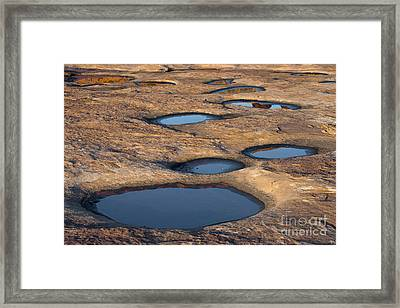 Slickrock In Arches National Park Framed Print by John Shaw