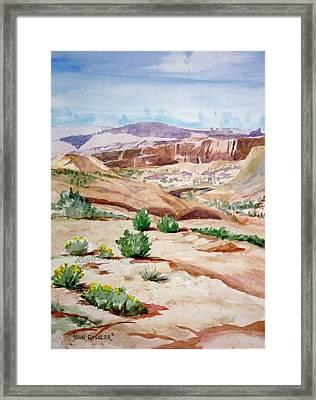 Slickrock Framed Print by John Ressler