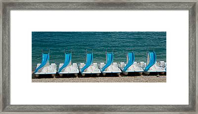 Slide Boats On Beach, Lac De Sainte Framed Print by Panoramic Images