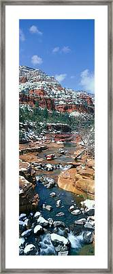 Slide Rock Creek In Wintertime, Sedona Framed Print by Panoramic Images