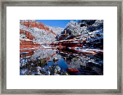 Framed Print featuring the photograph Slide Rock  by Tom Kelly