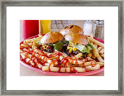 Sliders And Fries Framed Print