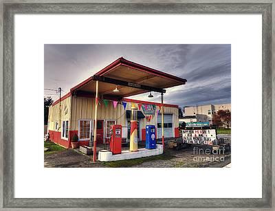 Slider's Cafe Framed Print by Eddie Yerkish