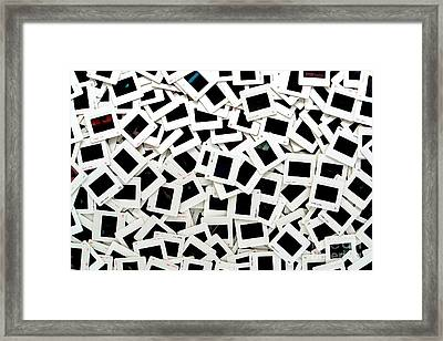 Slides Framed Print by Olivier Le Queinec