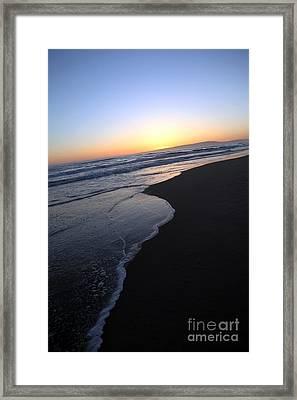 Sliding Down - Sunset Beach California Framed Print by Amanda Barcon