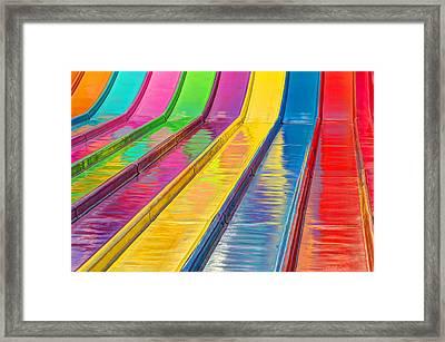 Sliding Into Summer Fun Framed Print