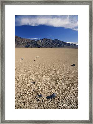 Sliding Rocks On Racetrack Playa Framed Print