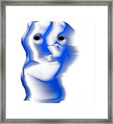 Slight Grin Framed Print