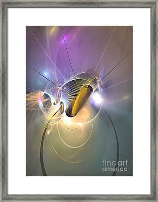Slight Light Framed Print