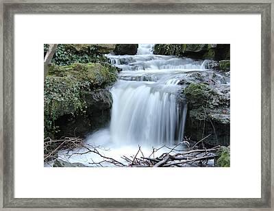 Slinky Waterfall Framed Print by Theresa Selley
