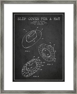 Slip Cover For A A Hat Patent From 1997 - Charcoal Framed Print